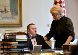 Prijem, Predsjednica RH